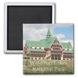 Waterton See-Nationalpark-Reise-Foto Quadratischer Magnet
