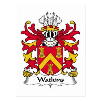 Watkins Familienwappen Postkarte