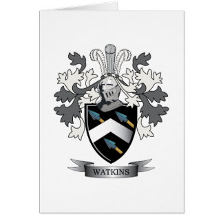 Watkins Familienwappen-Wappen Karte