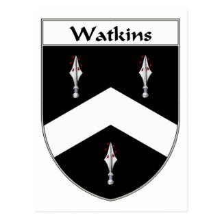 Watkins Wappen/Familienwappen Postkarte