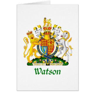 Watson-Schild von Großbritannien Karte