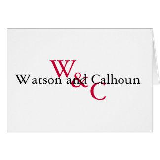 Watson- und Calhounanmerkung Karte