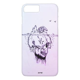 Wavelet @skull, @Just denken, bester Begleiter iPhone 8 Plus/7 Plus Hülle