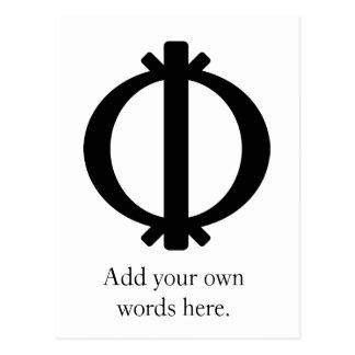 Wawa ABA   Symbol von Härte und von Beweglichkeit Postkarte
