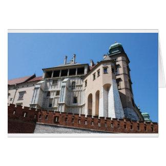 Wawel königliches Schloss in Krakau Karte