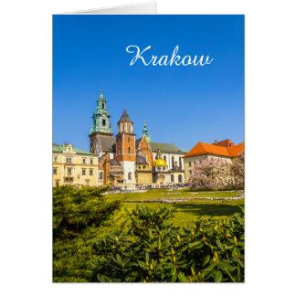 Wawel Schloss, Krakau, Polen Karte