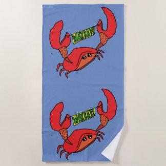 Waxbabe Krabben-Fahnen-Logo-Badetuch Strandtuch