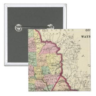 Wayne, Pike-Landkreise Quadratischer Button 5,1 Cm