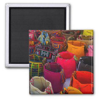 Wayuu mochilas Taschen für Verkauf in Kolumbien Quadratischer Magnet