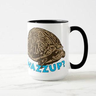 Wazzup - Schwarzes 15 Unze-Wecker-Tasse Tasse