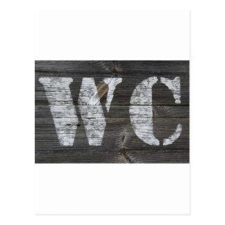 WC Schild Postkarte