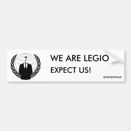 we are legion - anonymous autoaufkleber
