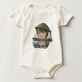 WearingBeeKeeperHat100712 copy.png Baby Strampler