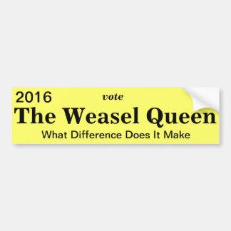 Weasel-Königin-Autoaufkleber Autoaufkleber
