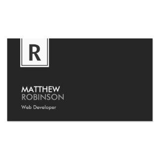 Web-Entwickler - modernes nobles Monogramm Visitenkarten