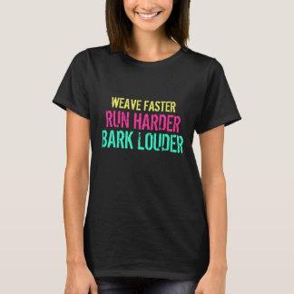 Webart schneller. Laufen Sie stark. Bellen Sie T-Shirt