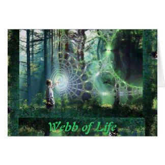 Webb des Lebens gotisch Karte