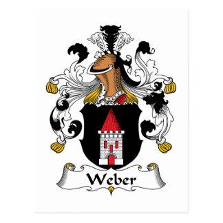 Weber Familienwappen Postkarte