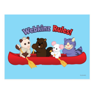 Webkinz | Webkinz Regel-Kanu-Reise 2 Postkarte