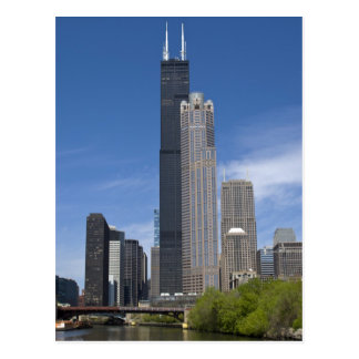 Webstühle Willis Turms (vorher das Sears Tower) Postkarte