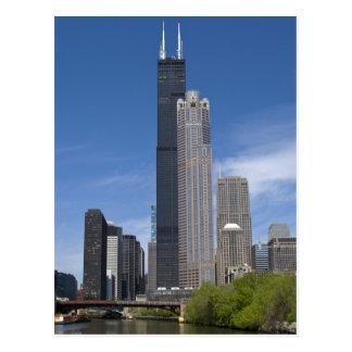 Webstühle Willis Turms (vorher das Sears Tower) Postkarten
