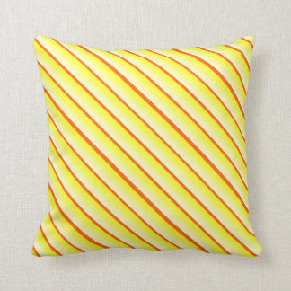 Wechselnde Breite Stripes Gelb und Orange Kissen