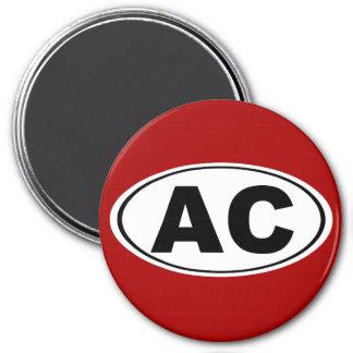 Wechselstrom Atlantic City Runder Magnet 7,6 Cm