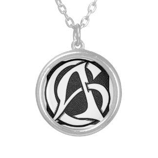 Wechselstrom-Monogramm Halskette