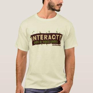 Wechselwirkend! Beige über grünem #2 T-Shirt