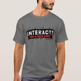 Wechselwirkend! Weiß über Rot T-Shirt