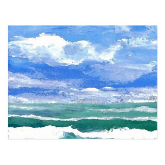 Wecken - CricketDiane Ozean-Wellen-Kunst-Produkte Postkarte