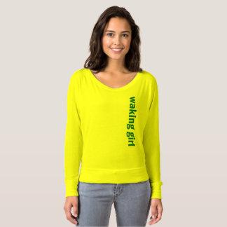 Wecken des Mädchen-Netz-Entwurfs-T - Shirt