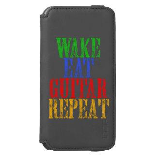 Wecken Sie essen GITARRE Wiederholung Incipio Watson™ iPhone 6 Geldbörsen Hülle