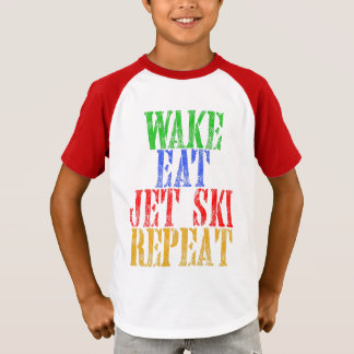 WECKEN SIE ESSEN JET-SKI-WIEDERHOLUNG T-Shirt