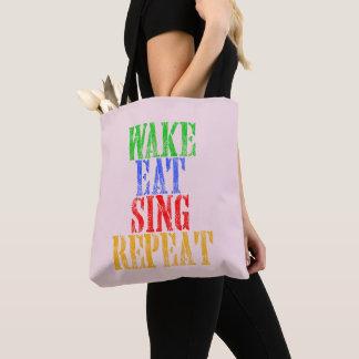 Wecken Sie essen singen Wiederholung Tasche