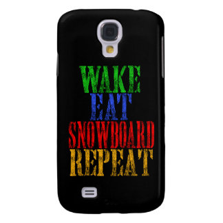 WECKEN SIE ESSEN SNOWBOARD-WIEDERHOLUNG GALAXY S4 HÜLLE