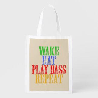 Wecken Sie essen SPIEL BASS-Wiederholung Wiederverwendbare Einkaufstasche