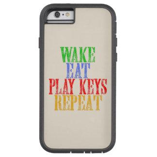 Wecken Sie essen SPIEL-SCHLÜSSEL Wiederholung Tough Xtreme iPhone 6 Hülle