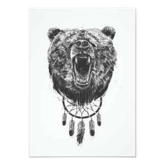 Wecken Sie nicht den Bären 12,7 X 17,8 Cm Einladungskarte