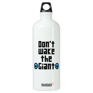 Wecken Sie nicht den Riesen Aluminiumwasserflasche