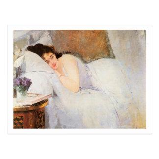 Weckende Frau, 1876 (Öl auf Leinwand) Postkarten