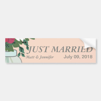 Weckglas-Hochzeits-Einladung - Pastellaprikose Autoaufkleber
