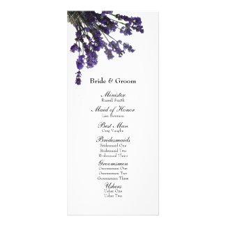 Weckglas-Lavendel-Hochzeits-Programm Individuelle Werbe Karte