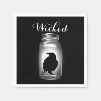 Weckglas-Raben-Halloween-Serviette Papierserviette