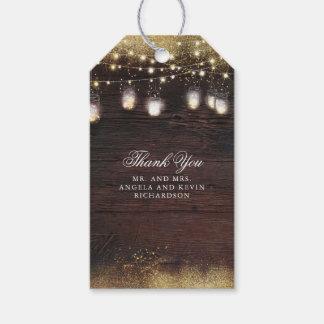Weckglas-Schnur beleuchtet rustikale Hochzeit Geschenkanhänger