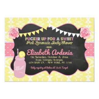 Weckglas-süße Limonade-Babyparty-Einladung Karte