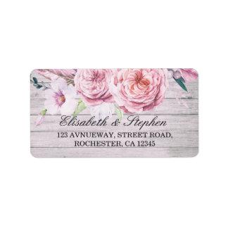 Wedding Adressen-Aquarell Boho rustikales mit Adressaufkleber
