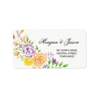 Wedding Adressen-Blumenaufkleber-Party-Aufkleber Adressaufkleber