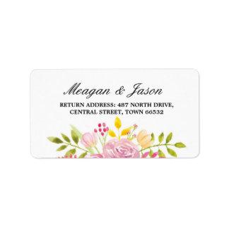 Wedding Adressen-Blumenaufkleber-rosa Adressaufkleber