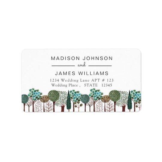 Wedding | Adressen-Etiketten des Adressaufkleber